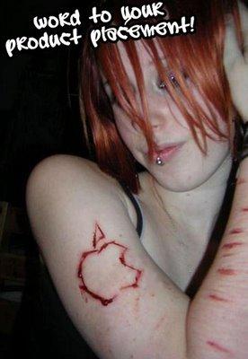 apple bloody tattoo