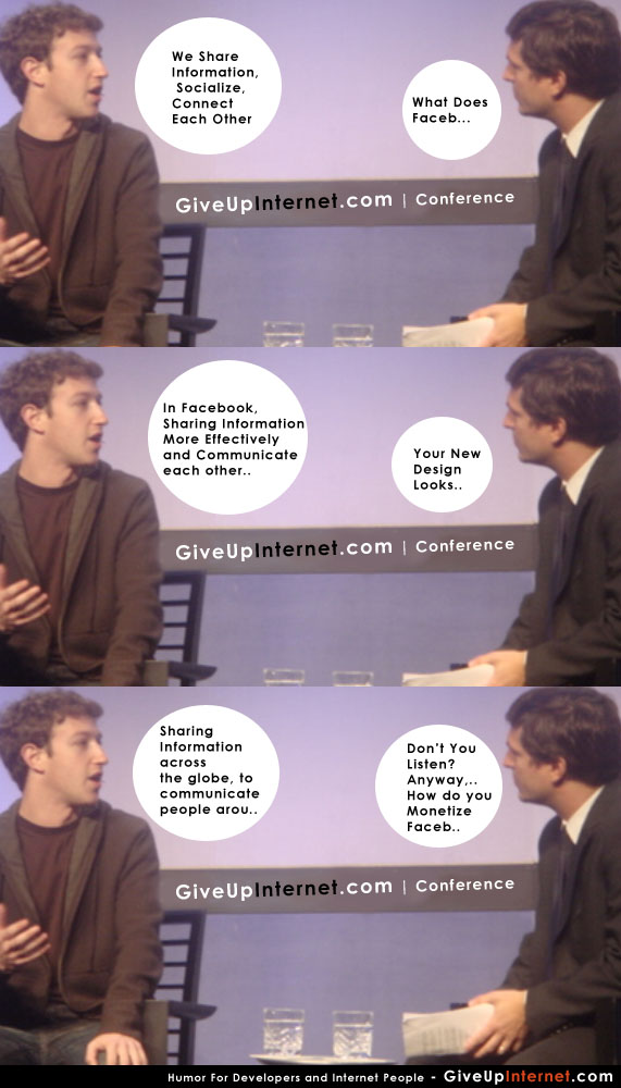 funny mark zuckerberg talking about facebook